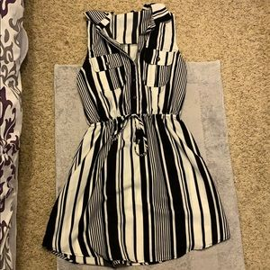 Black and white stripped dress size small by bebop